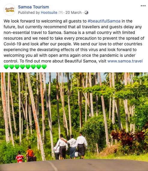 Beautiful Samoa Facebook Post
